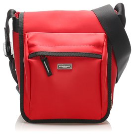 Burberry-Burberry Red Nova Check Leather Crossbody Bag-Red,Multiple colors