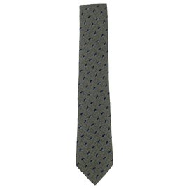 Hermès-Green leaf Hrmes tie-Green