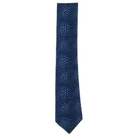 Hermès-Hermes blue tie with dots-Blue