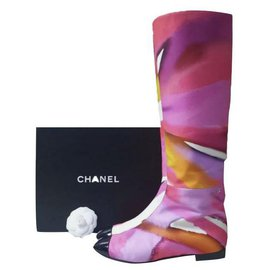 Chanel-Chanel ready-to-wear catwalk collection SS 2015 Booties Sz.39-Multiple colors