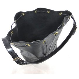 Louis Vuitton-NOE GM LEATHER EPI BLACK-Black
