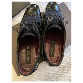 Louis Vuitton-LV Derby black patent-Black