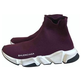 Balenciaga-Speed-Dark red