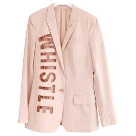Stella Mc Cartney-Stella McCartney SS02 Pale Pink Whistle Cut-Out Jacket-Pink
