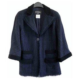 Chanel-Jackets-Navy blue