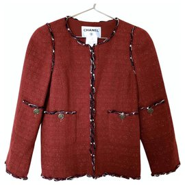 Chanel-Jackets-Red