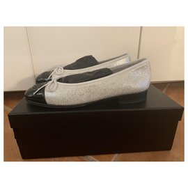 Chanel-Ballet flats-Silvery