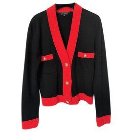 Chanel-2019 jewel buttons cardigan-Black