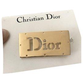 Dior-Broches et broches-Bijouterie dorée