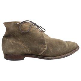 Autre Marque-chukka boots by Crockett & Jones p 40,5-Beige