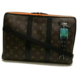 Louis Vuitton-Pouch Keepall Zoooom with Friends Limited Edition-Brown,Black,Orange