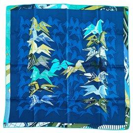 Hermès-Silk casseroles-Blue