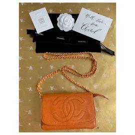 Chanel-Clutch bags-Orange