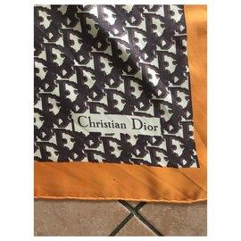 Dior-Echarpes-Marron,Orange