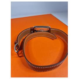 Hermès-Hermès Nantucket Watch Cape Cod lined Tour-Light brown