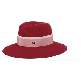 Maison Michel-MAISON MICHEL Virgule Virginie Hat Red Woman TM-Red
