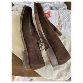 Hermès-Chocolate suede shoe 40 1/2-Brown