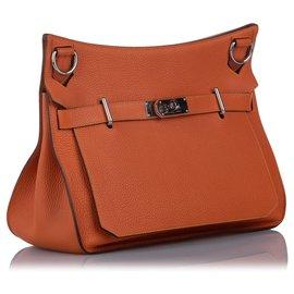 Hermès-Hermes Orange Clemence Birkin-Orange