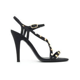 Chanel-BLACK FABRIC GOLDEN ICONS FR37.5-Black
