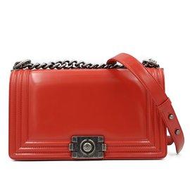 Chanel-Chanel 2015-16 Reb Boy Bag-Red