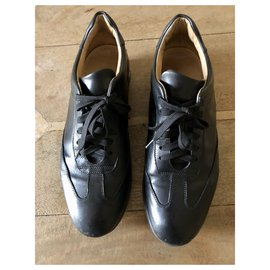 Autre Marque-WINDPORT in black leather with laces T.42-Black