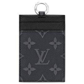 Louis Vuitton-LV Card Holder on strap new-Black