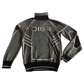 Dior-Dior Homme Robot Turtleneck Sweater by Soyarama and Kim Jones . 2019-Grey