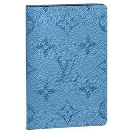 Louis Vuitton-LV Pocket organizer denim blue Taigarama-Blue