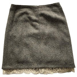 Chanel-Chanel heather gray skirt-Grey
