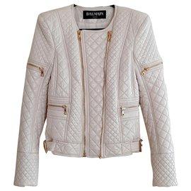 Balmain-Jackets-Pink