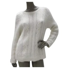 Balmain-Balmain White Angora Sweater Sz.40-White