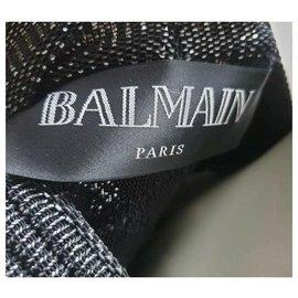 Balmain-Balmain Golden Button Skirt Suit Sz.34-36-Brown