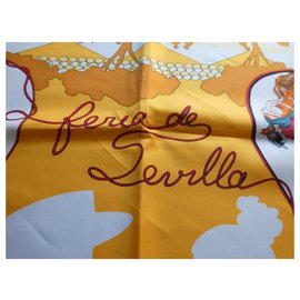 "Hermès-square hermès ""feria de sevilla"" 90x90 with his box-Other"