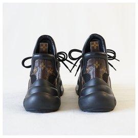 Louis Vuitton-Sneakers-Brown,Black