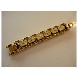 Yves Saint Laurent-Yves Saint-Laurent vintage Haute couture bracelet 80'gold plated and ebony-Golden