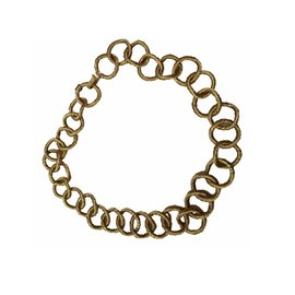 Chanel-Stunning CHANEL collection 26 CIRCA 1990 gold rope choker necklace-Golden