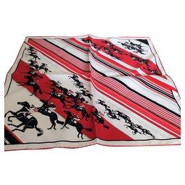 Hermès-Magnificent Hermès silk scarf-Red