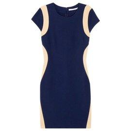 Diane Von Furstenberg-Dresses-Flesh,Navy blue