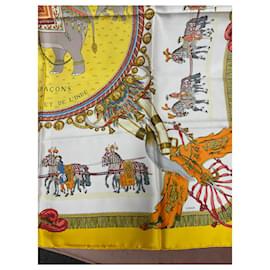Hermès-Caparons aus Frankreich und Indien-Mehrfarben ,Gelb