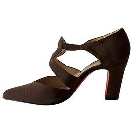 Christian Louboutin-WAZI brown pumps-Dark brown