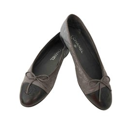 Chanel-Chanel ballet flats-Grey