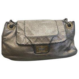 Chanel-2-55 money-Silvery,Golden