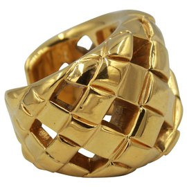 Chanel-Chanel Quilted Bracelet-Gold hardware