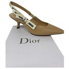 Dior-POMPE DIOR J'ADIOR SLINGBACK Tissu technique beige nude-Beige