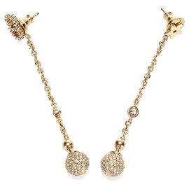 Dior-Pendants d'oreilles dorés dorés Dior-Doré