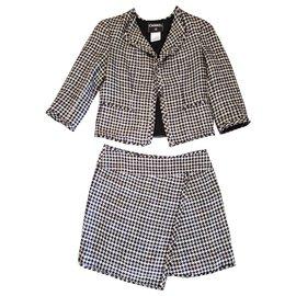 Chanel-Skirt suit-Black,White