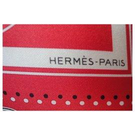 Hermès-EX LIBRI S CARRE CLUB-Red
