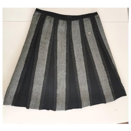 Chanel-Skirt-Grey,Navy blue