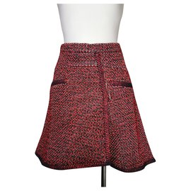 Chanel-Skirt-Red,Navy blue