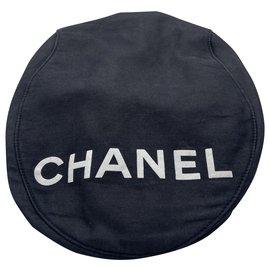 Chanel-Chanel black beret cap-Black